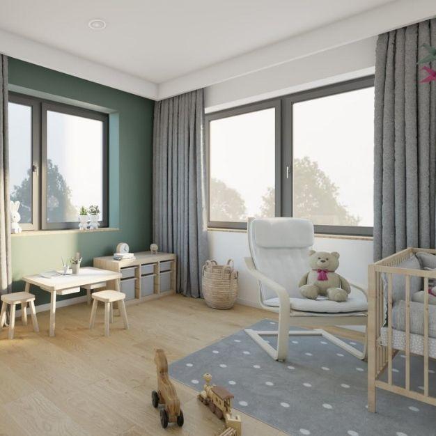 pomysł na pokój dla niemowlaka, jakie wybrać meble do pokoju małego dziecka, pomysł na zasłonki w pokoju dziecka