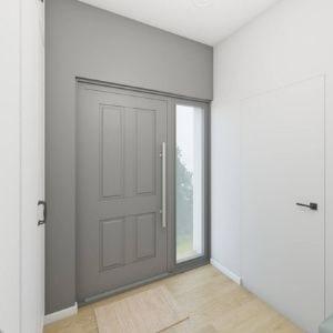 pomysł na mały przedsionek. jak wybrać drzwi wejściowe, szare drzwi wejściowe z przeszkleniem