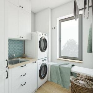 projekt pralni w domu, miejsce do prasowania w pralni domowej