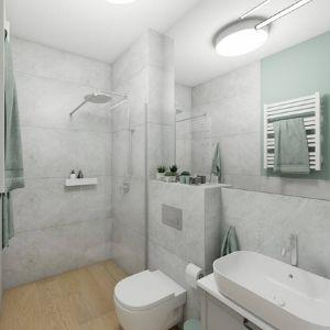 jasnoszare płytki do łazienki, pomysł na łazienkę z prysznicem