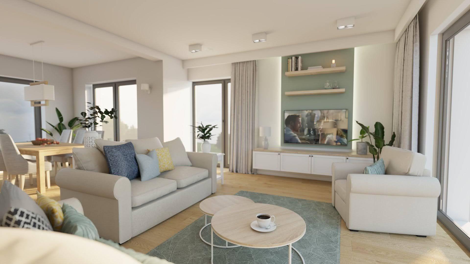 pomysł na salon w stylu klasycznym, salon z sofą i fotelem, szary dywan w salonie